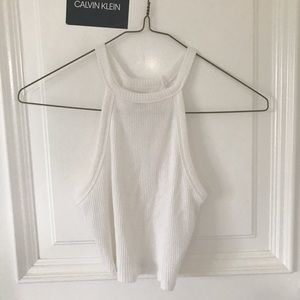 Hollister Ribbed Cropped Tank Top